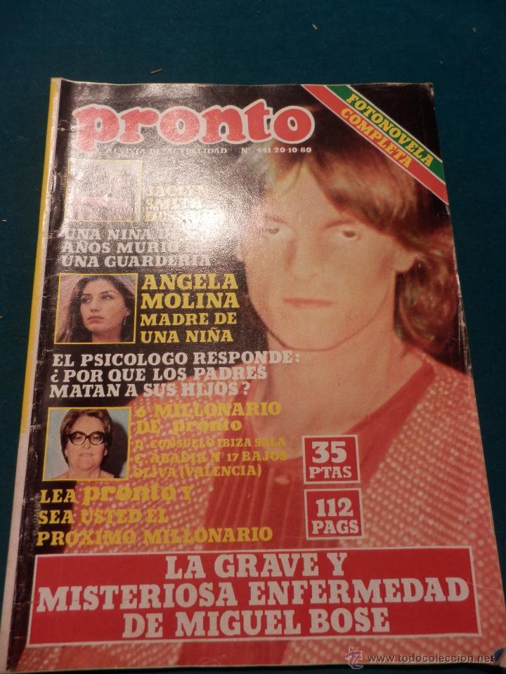 Revista Pronto Nº 441 Año 1980 Miguel Bose Sold Through Direct