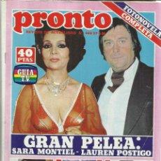 Coleccionismo de Revista Pronto: REVISTA PRONTO. ABRIL. 1981. Nº 468. SARA MONTIEL. LAUREN POSTIGO. TONY MUSANTE. QUINI. Lote 53719321