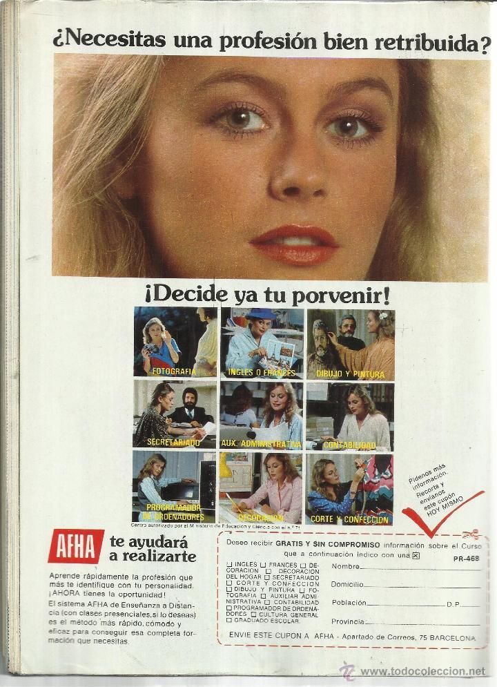 Coleccionismo de Revista Pronto: REVISTA PRONTO. ABRIL. 1981. Nº 468. SARA MONTIEL. LAUREN POSTIGO. TONY MUSANTE. QUINI - Foto 2 - 53719321