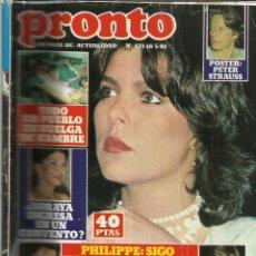 Coleccionismo de Revista Pronto: REVISTA PRONTO. MAYO. 1981. Nº 471. CAROLINA DE MÓNACO. PHILIPPE JUNOT. ROBERTINO. Lote 53739726