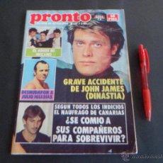 Coleccionismo de Revista Pronto: ROCIO JURADO - MECANO,REPORTAJE Y POSTER CENTRAL- FOTO AZAFATAS 123 - KIKO LEDGARD - EN PRONTO 1983. Lote 53739750