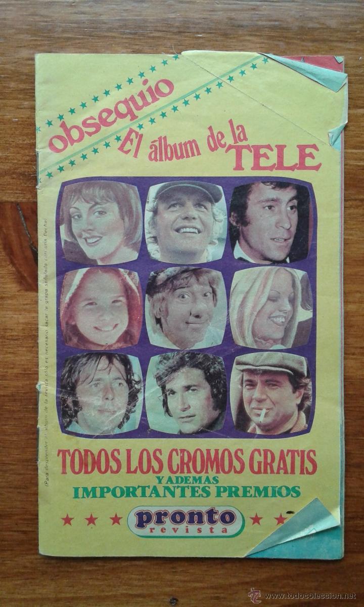 OBSEQUIO REVISTA PRONTO. EL ALBUM DE LA TELE. TIENE ALGUN CROMO (Papel - Revistas y Periódicos Modernos (a partir de 1.940) - Revista Pronto)