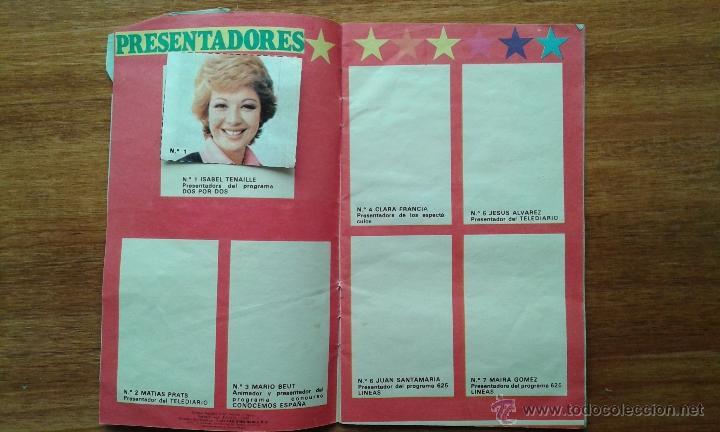 Coleccionismo de Revista Pronto: OBSEQUIO REVISTA PRONTO. EL ALBUM DE LA TELE. TIENE ALGUN CROMO - Foto 4 - 54051422
