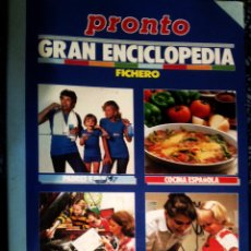 Coleccionismo de Revista Pronto: GRAN ENCICLOPEDIA PRONTO FICHERO: COCINA ESPAÑOLA TRUCOS SALUD PADRES E HIJOS. Lote 55890254