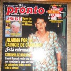 Coleccionismo de Revista Pronto: PRONTO Nº 1272 ---21-9-1996. Lote 56115003