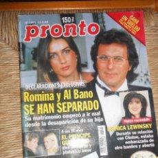 Coleccionismo de Revista Pronto: PRONTO Nº 1401 --13-3- 1999. Lote 56115048