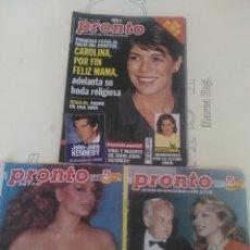 Coleccionismo de Revista Pronto: 3 REVISTA PRONTO RAINIERO Y IRA FUESTENBETG N'695-698-1421 AÑOS 1985-99. Lote 56120239