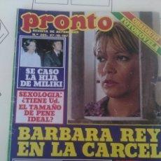 Coleccionismo de Revista Pronto: REVISTA PRONTO N'285 AÑO 1977 BARBARA REY EN LA CARCEL. Lote 56120499
