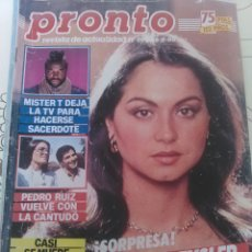 Coleccionismo de Revista Pronto: REVISTA PRONTO N'694 AÑO 1985 ISABEL PREYSLER EMBARAZADA.. Lote 56148256