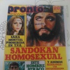 Coleccionismo de Revista Pronto: REVISTA PRONTO N'282 AÑO 1977 SANDOKAN HOMOSEXUAL. Lote 56148636