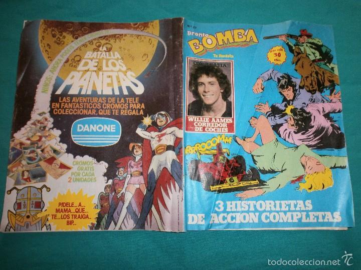REVISTA PRONTO BOMBA Nº27 CON POSTER DE LA BATALLA DE LOS PLANETAS (Papel - Revistas y Periódicos Modernos (a partir de 1.940) - Revista Pronto)