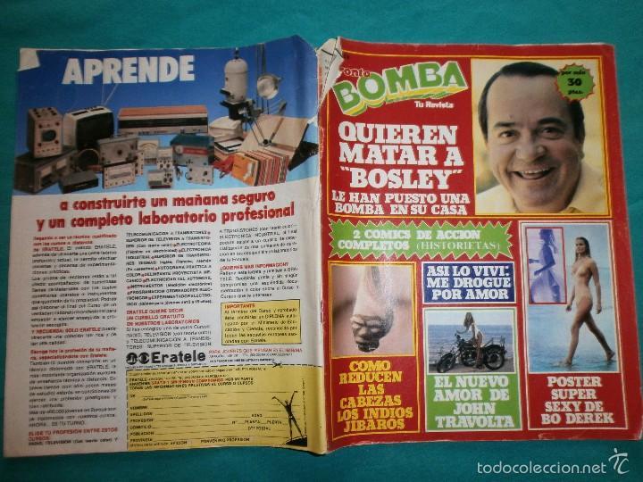 REVISTA PRONTO BOMBA Nº33 (Papel - Revistas y Periódicos Modernos (a partir de 1.940) - Revista Pronto)