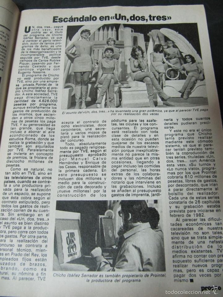 Coleccionismo de Revista Pronto: REVISTA PRONTO 11/82 UN DOS TRES RESPONDA OTRA VEZ MAYRA GOMEZ KEMP KIKO LEDGARD BEATRIZ CARVAJAL - Foto 2 - 58659559