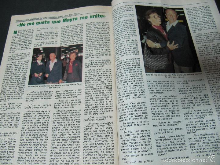 Coleccionismo de Revista Pronto: REVISTA PRONTO 11/82 UN DOS TRES RESPONDA OTRA VEZ MAYRA GOMEZ KEMP KIKO LEDGARD BEATRIZ CARVAJAL - Foto 3 - 58659559