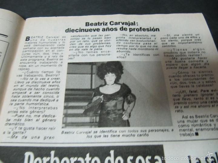 Coleccionismo de Revista Pronto: REVISTA PRONTO 11/82 UN DOS TRES RESPONDA OTRA VEZ MAYRA GOMEZ KEMP KIKO LEDGARD BEATRIZ CARVAJAL - Foto 4 - 58659559