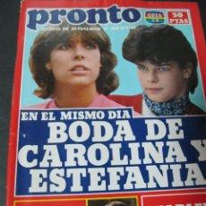 PRONTO 5/82 SARA MONTIEL LINA MORGAN ISABEL MESTRES CHARLENE TILTON CAROLINA Y ESTEFANIA DE MONACO
