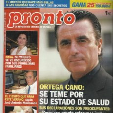 Coleccionismo de Revista Pronto: PRONTO.. Lote 58920185
