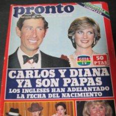 Coleccionismo de Revista Pronto: REVISTA PRONTO 6/82 MECANO DALI MANOLO ESCOBAR CONCHA VELASCO DORIS DAY VICTORIA PRINCIPAL. Lote 113022820