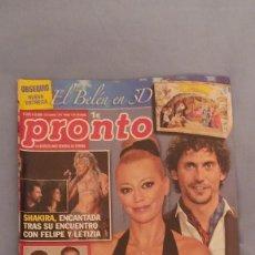Coleccionismo de Revista Pronto: REVISTA PRONTO - NUMERO 2013 - 4/12/2010 - BELEN ESTEBAN AHORA EN AIDA. Lote 63121004
