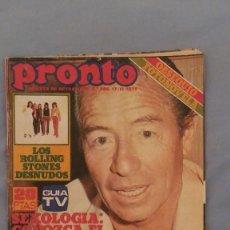 Coleccionismo de Revista Pronto: REVISTA PRONTO - NUMERO 288 - 17/11/1977 - KIKO LEDGARD GRAVEMENTE ENFERMO. Lote 63675443