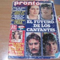 Coleccionismo de Revista Pronto: REVISTA PRONTO AÑO 1978. Lote 68542201