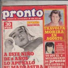 Colecionismo da Revista Pronto: REVISTA PRONTO Nº 406 AÑO 1980. NO INCLUYE POSTER. . Lote 69361129