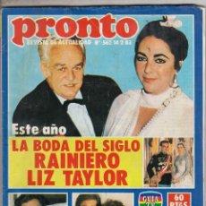 Coleccionismo de Revista Pronto: REVISTA PRONTO Nº 562 AÑO 1983. POSTER JEREMY IRONS. . Lote 69362317