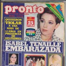 Coleccionismo de Revista Pronto: REVISTA PRONTO Nº 343 AÑO 1978. INCLUYE POSTER DE BENEY M. . Lote 69368317