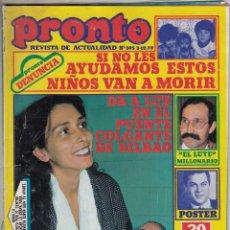 Coleccionismo de Revista Pronto: REVISTA PRONTO Nº 395 AÑO 1979. EL LUTE. INCLUYE POSTER TONY CURTIS. . Lote 69603393