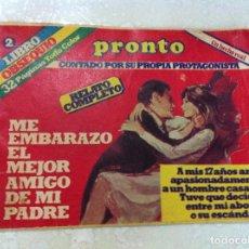 Coleccionismo de Revista Pronto: ANTIGUO LIBRO OBSEQUIO DE REVISTA PRONTO. LIBRO 2. RELATOS. Lote 69754157