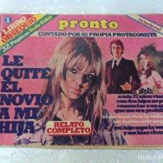 Coleccionismo de Revista Pronto: ANTIGUO LIBRO OBSEQUIO DE REVISTA PRONTO. LIBRO 1. RELATOS. Lote 69754169