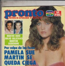 Coleccionismo de Revista Pronto: REVISTA PRONTO Nº 563 AÑO 1983. DUO JULIO IGLESIAS BERTIN OSBORNE. BODA PEDRO RUIZ Y LUCIA.. Lote 71120033