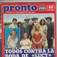 Coleccionismo de Revista Pronto: REVISTA PRONTO Nº 512 AÑO 1982. CHARLENE TILTON.. Lote 71249743