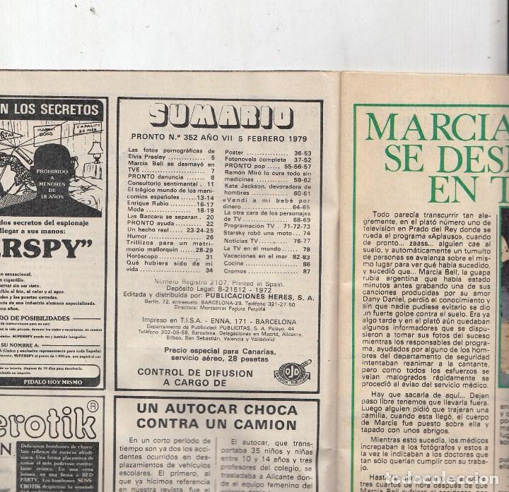 Coleccionismo de Revista Pronto: REVISTA PRONTO Nº 352 AÑO 1979.KATE JACKSON Y GAVIN MAC.LEOD.POSTER JACKYN SMITH ANGELES DE CHARLIE. - Foto 2 - 72119499