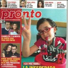 Coleccionismo de Revista Pronto: REVISTA PRONTO NÚMERO 2185. 22 DE MARZO DE 2014. LA INESPERADA MUERTE DE IRALIA. Lote 48408838