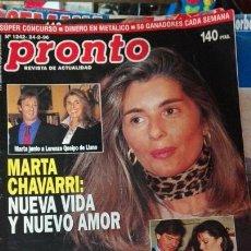 Coleccionismo de Revista Pronto: PRONTO MARTA CHAVARRI. Lote 72192867