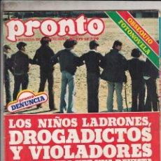 Coleccionismo de Revista Pronto: REVISTA PRONTO Nº 375 AÑO 1979. ROMANCE MILDRED Y GEORGE. POSTER: WILLIE AAMES. . Lote 72256591
