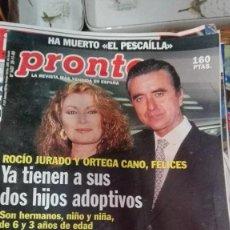 Coleccionismo de Revista Pronto: REVISTA PRONTO 1437 AÑO 1999 PORTADA ROCIO JURADO MUERTE PESCAILLA REPORT. ROSARIO FLORES. Lote 75496227