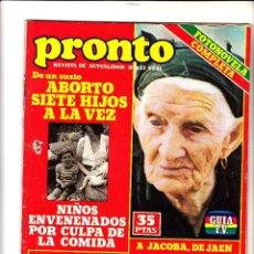Coleccionismo de Revista Pronto: PRONTO.05/01/1981.N 452.POSTER THE BEATLES.. Lote 80594614
