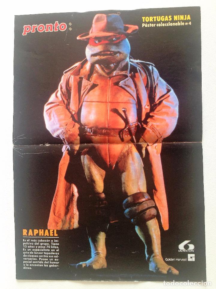 PÓSTER DE LAS TORTUGAS NINJA Nº 4 (RAPHAEL). REVISTA PRONTO. (Papel - Revistas y Periódicos Modernos (a partir de 1.940) - Revista Pronto)
