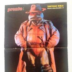 Coleccionismo de Revista Pronto: PÓSTER DE LAS TORTUGAS NINJA Nº 4 (RAPHAEL). REVISTA PRONTO.. Lote 84642280