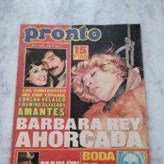 Coleccionismo de Revista Pronto: REVISTA PRONTO 1977. BARBARA REY AHORCADA. NUMERO 245. Lote 86729716
