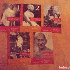 Coleccionismo de Revista Pronto: GANDHI: VIDA Y LUCHA DE UN HOMBRE DE PAZ COLECCIONABLE COMPLETO POR PILAR MUÑOZ DE PRONTO. Lote 88649780