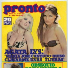 REVISTA PRONTO - Nº 263 - 1977 - ÁGATA LYS, PABLO ABRAIRA, MARÍA CASAL, SILVIA AGUILAR, UN DOS TRES