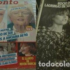 Coleccionismo de Revista Pronto: REVISTA PRONTO 1984 ROCÍO DÚRCAL. Lote 90874295