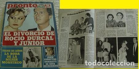 REVISTA PRONTO 1982 ROCÍO DÚRCAL (Papel - Revistas y Periódicos Modernos (a partir de 1.940) - Revista Pronto)