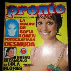 Coleccionismo de Revista Pronto: REVISTA PRONTO 170 1975 MARCIA BEL JORGE CAFRUNE LINDSEY ANGELA MOLINA MANOLO OTERO. Lote 93305175