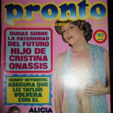 Coleccionismo de Revista Pronto: REVISTA PRONTO 174 1975 ALICIA TOMAS TONY LUZ VERONICA LLIMERA OLGA FERNANDEZ MISS ESPAÑA CAMACHO. Lote 93402280