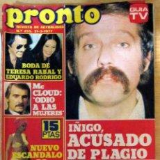 Coleccionismo de Revista Pronto: PRONTO 255 NADIUSKA LEIF GARRET POSTER SUPER-RATON KEITH RICHARD MARIA LUISA SECO . Lote 95083707