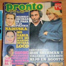 Coleccionismo de Revista Pronto: PRONTO 257 MANOLO ESCOBAR NADIUSKA AMPARO MUÑOZ ALFREDO ALBA POSTER STEVE FORREST JUAN TAMARIZ . Lote 95083939